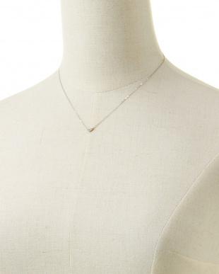 ダイヤモンド PT ハートダイヤチャームネックレスを見る