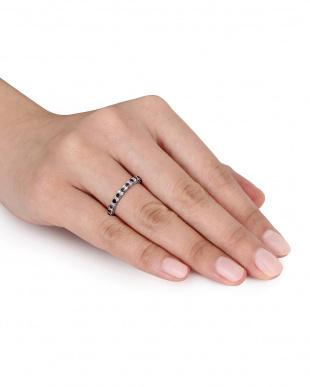 ブラック&ホワイトダイヤモンド(0.5ct) ハーフエタニティリングを見る