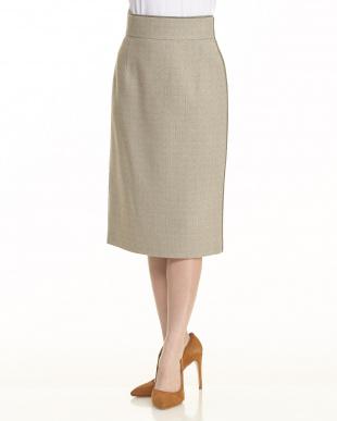 ベージュ ベージュ系 シャイニートリムデザインスカートを見る