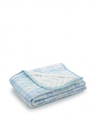 ブルー やわらかな肌ざわりの二重ガーゼ生地使用敷きパッド シングルを見る