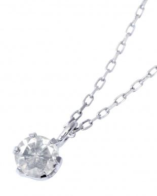 PT900/PT850 Pt 天然ダイヤモンド 0.1ct 6本爪一粒ネックレスを見る