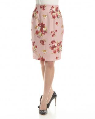ピンク フラワーブーケスカート見る
