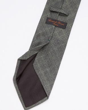 グリーン チェック柄ネクタイを見る