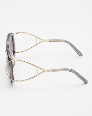 クリアグレー コンビフレームビッグラウンドサングラスを見る