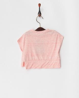 ピンク マーブルヤーン天竺 ベビーS/S ワイドTシャツを見る