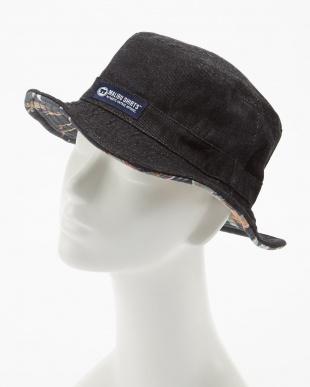 ブラック ALOHA FABRIC×DENIM RV HATを見る