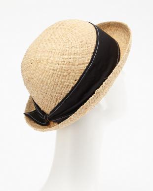 ブラック RAFFIA BOWLER HATを見る