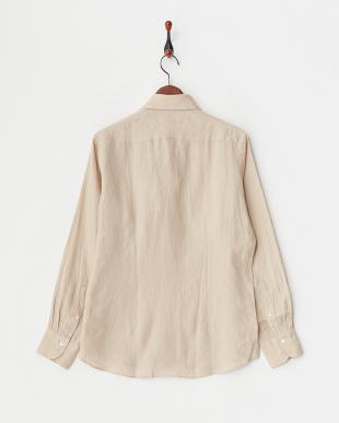 ベージュ リネンアロエフィニッシュシャツ|MENを見る
