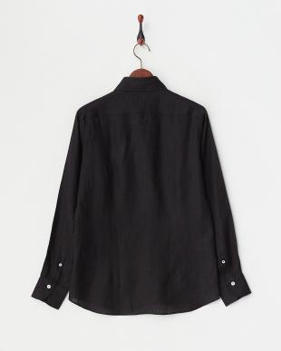 ブラック リネンアロエフィニッシュシャツを見る