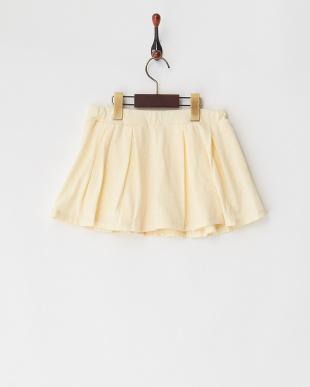 アイボリー フレアスカートパンツ見る