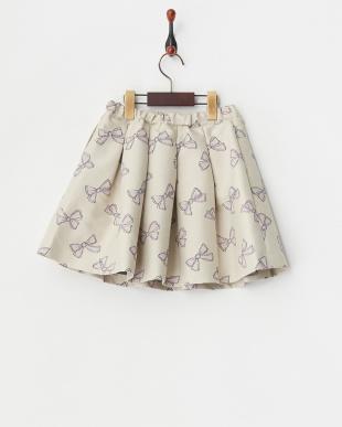 ペールピンク リュバンオンブルジャガードスカート見る