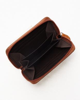 CAMEL.M カイマンワニ革&牛革クロコ型押しコンパクト財布見る