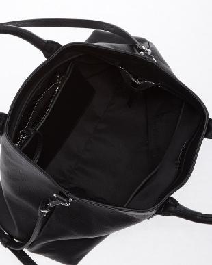 099 ブラック ショルダー付きトートバッグ見る