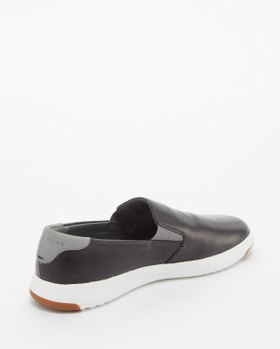 GRAY PINSTRP/WH GRANDPRO SLIP ON見る