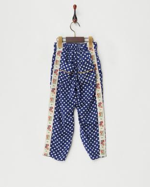 ブルー シルクメンサテン パジャマ パンツを見る