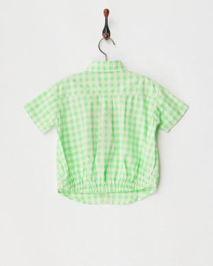 イエローグリーン ギンガムチェック S/S シャツを見る