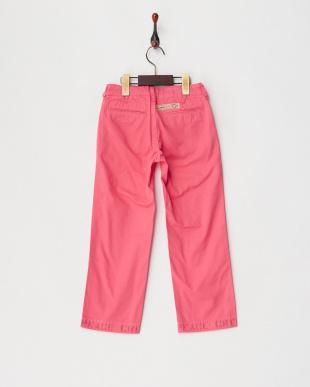 ピンク コンパクトチノ ロングパンツを見る