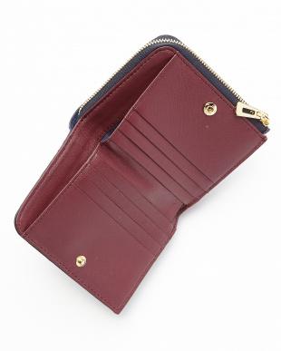 ネイビー/ワイン クロコLF札入れ財布を見る
