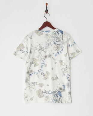 ブルーフラワー マルチフラワープリントTシャツを見る