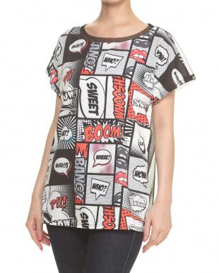 ワード バックチュール切り替え 吹き出しプリントTシャツを見る