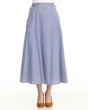 ブルー ギンガムスカートを見る