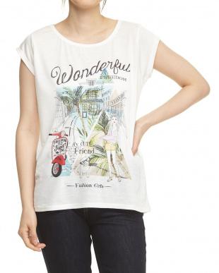 バイク バックラウンドヘムTシャツを見る