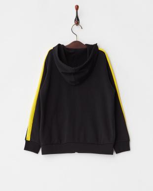 COTTON BLACK フーデッドスウェットジャケット|KIDS見る