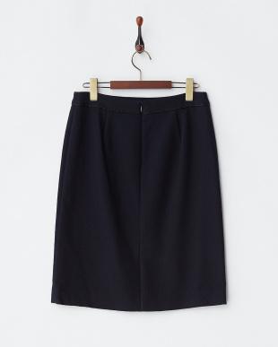 093 ネイビー プリペラシャインストレッチタイトスカート見る