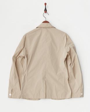beige ポケット付きジャケットコート見る