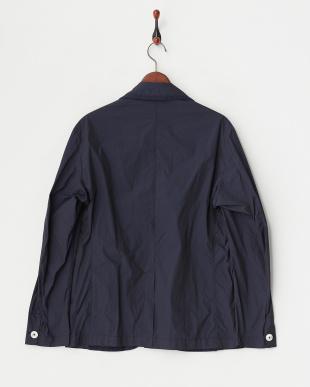 navy ポケット付きジャケットコート見る
