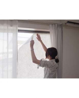 窓貼りすだれ ホワイト フリーカット 90×100cmを見る