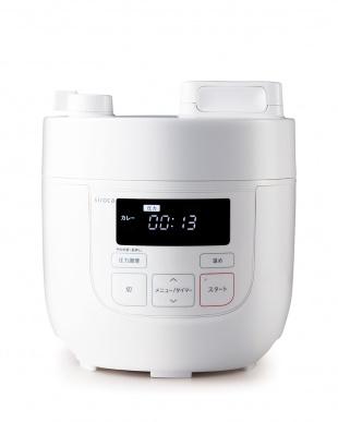 ホワイト siroca 電気圧力鍋(SP-D121)を見る