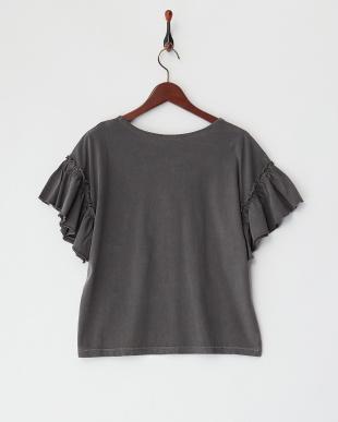 BLACK サボテン刺繍 ギャザースリーブTシャツを見る