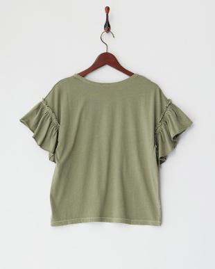 OLIVE サボテン刺繍 ギャザースリーブTシャツを見る