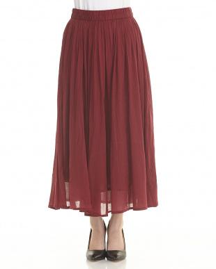 RED コットンボイルギャザースカートを見る
