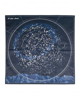 星座柄のプリントラグ スター 185×185cmを見る