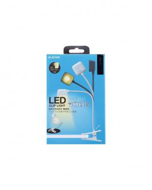 ブラック LEDクリップデスクライト/USB+AC対応を見る