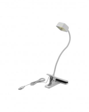ホワイト LEDクリップデスクライト/USB+AC対応を見る