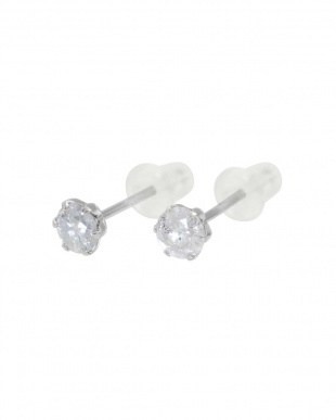 Pt900 天然ダイヤモンド 計0.3ct プラチナ6本爪 スタッドピアス見る