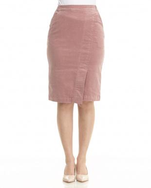 ピンク コーデュロイカラータイトスカートを見る
