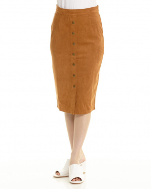 G122(ブラウン系) MARLEE SUEDE MIDI スカート WOMENを見る