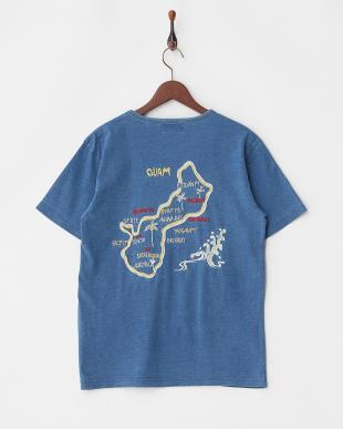 VINTAGE WASH インディゴ天竺刺繍Tシャツ(GUAM)を見る