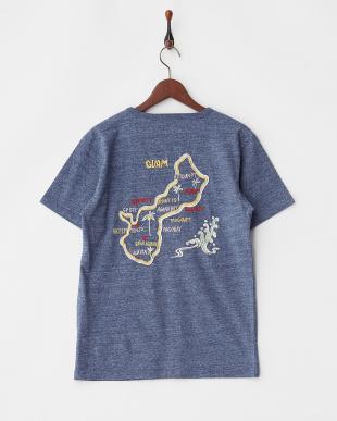 BLUE インディゴ天竺刺繍Tシャツ(GUAM)見る