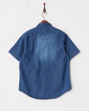 VINTAGE WASH ハンド刺繍S/Sデニムウエスタンシャツ見る