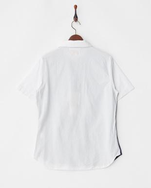 NAVY 切替オープンカラーシャツ見る
