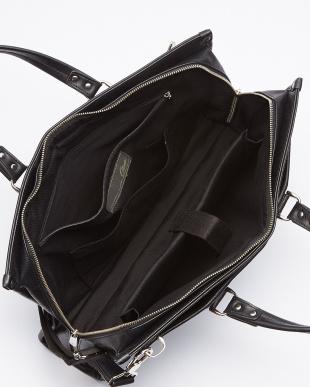 BK(ブラック) 2WAYシワ加工レザータイプ合皮ビジネスバッグ/ブリーフケース/ショルダーバッグ見る