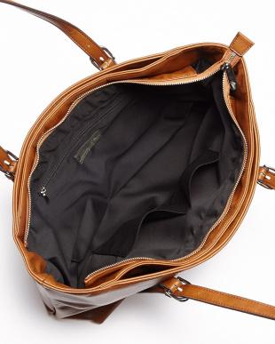 BK(ブラック) アンティークレザータイプ合皮トートバッグ見る