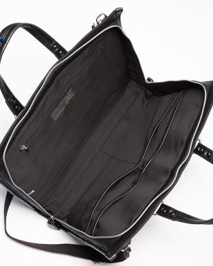 BK(ブラック) 2WAYカツラギカラーウレタンコートビジネスバッグ/ブリーフケース/ショルダーバッグ見る
