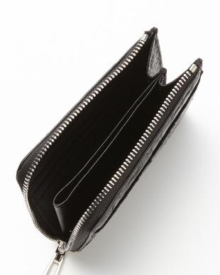 ブラック クロコダイルL字ファスナーコンパクト財布見る