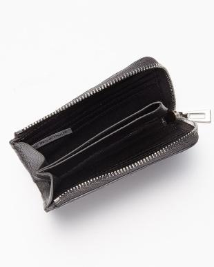 グレー クロコダイルL字ファスナーコンパクト財布見る